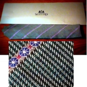 NWT Stafford Executive Tie All Silk  vintage
